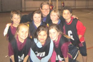 Netball team under 9 years of age